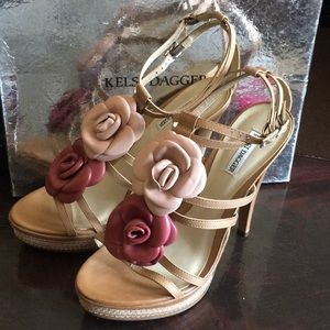 Kelsi Dagger High Heels With Flower Designs